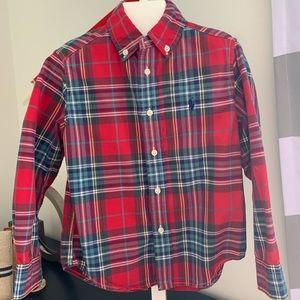Ralph Lauren toddler 4 Oxford red plaid shirt